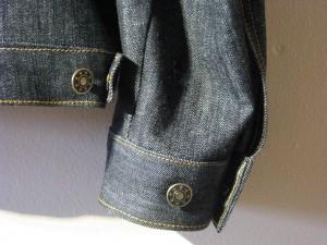 Custom Indigo Denim Jacket Cuff
