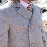 Notched-Collar Double-Breasted Seaside Suit