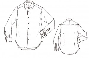 Semi-Wide Spread Collar Formal Shirt