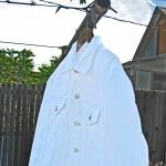 Bespoke White Denim Jacket