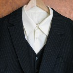Wool Silk Pinstripe Suit