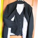 Wool Slik Pinstripe Suit
