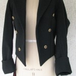 Open Front Melton Tailcoat