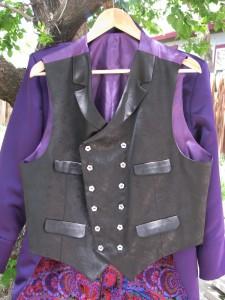Black Brocade Vest