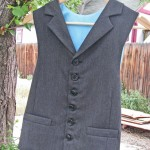 notch collar vest