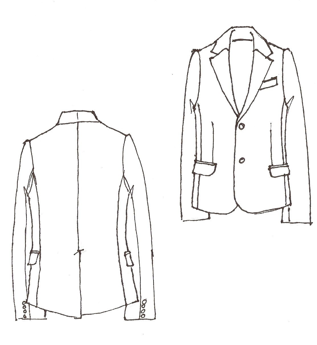 Mens Suit Drawing | www.imgkid.com - The Image Kid Has It!