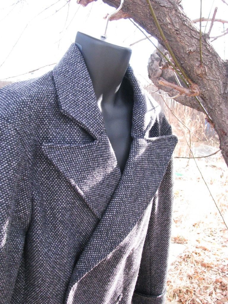 A Tweed Peak-Lapel Overcoat