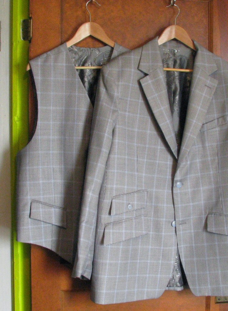 Silver Windowpane Suit