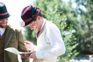 1910 style fedora hat burgundy