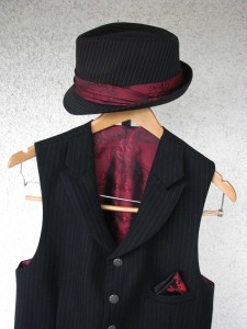 Pinstripe Hat and Vest