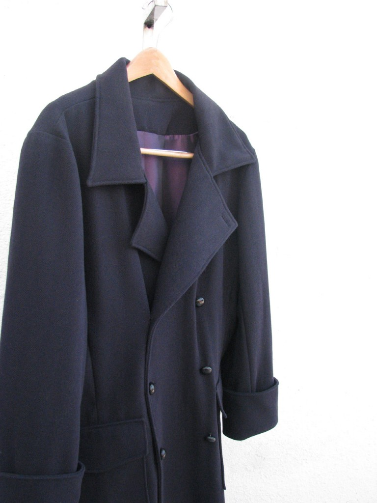 Navy Herringbone Trenchcoat