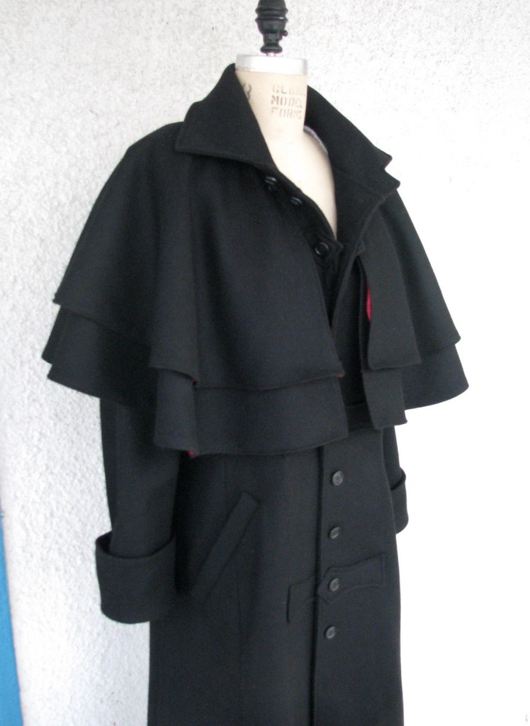 Black Melton Greatcoat