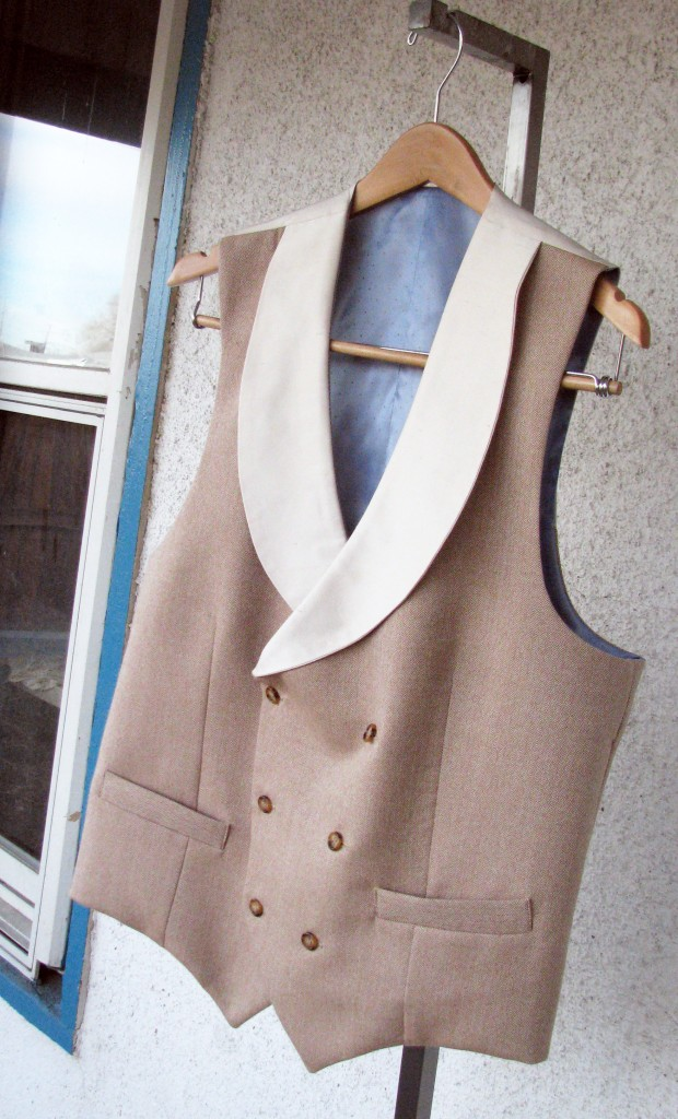 Double Breasted Herringbone Formal Vest
