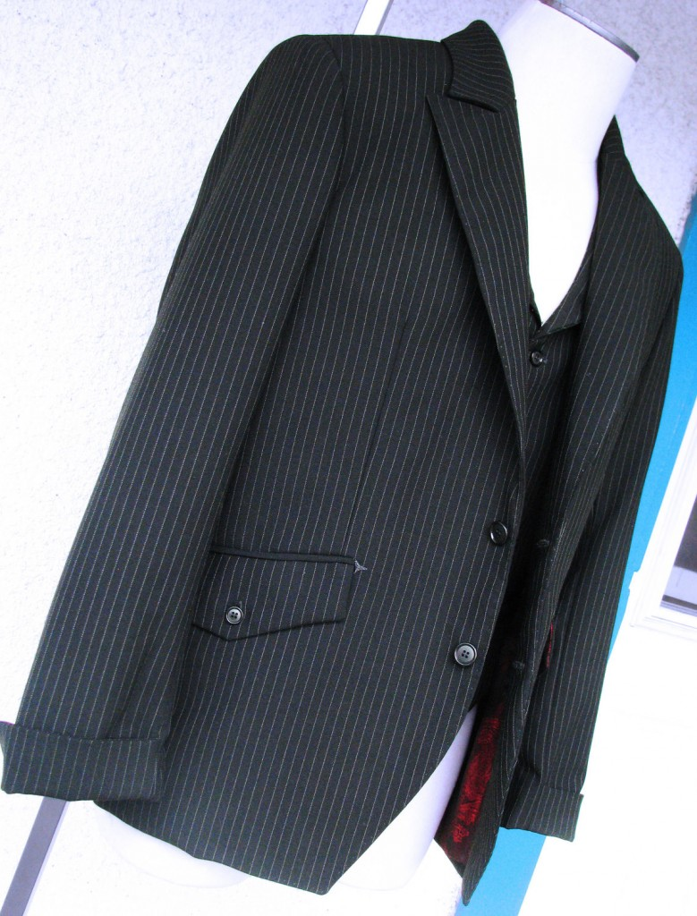 Black Pinstripe 3pc Suit