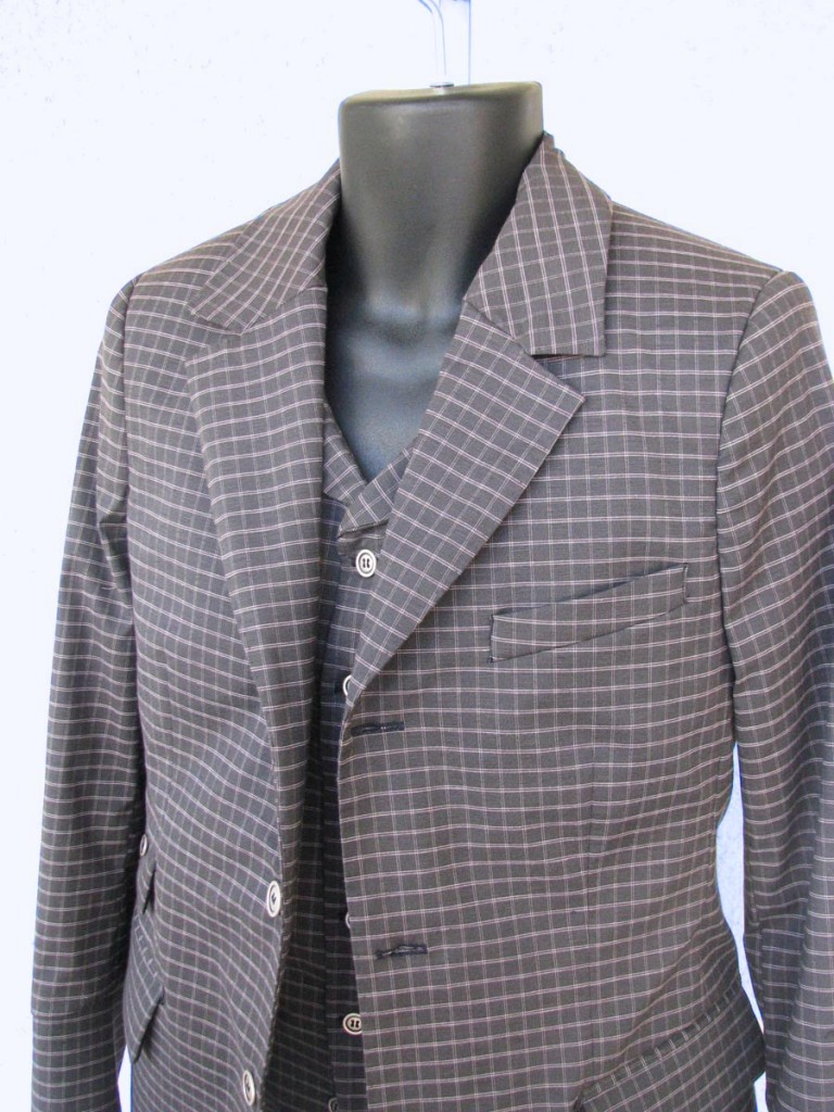 vegan plaid suit