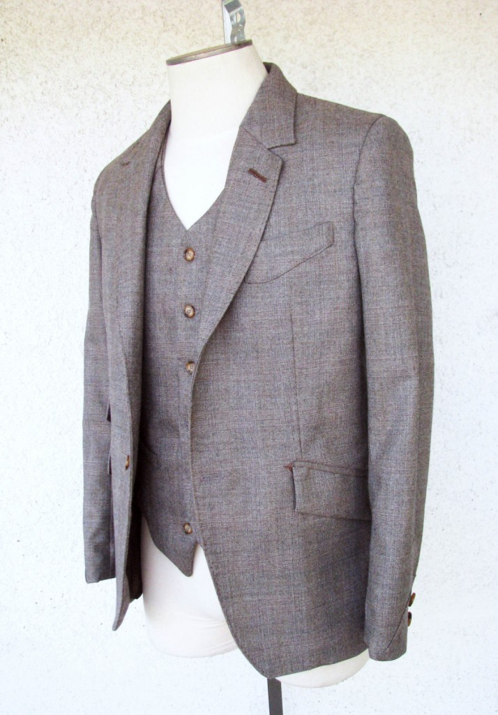 Brown Glen Plaid 3pc Suit