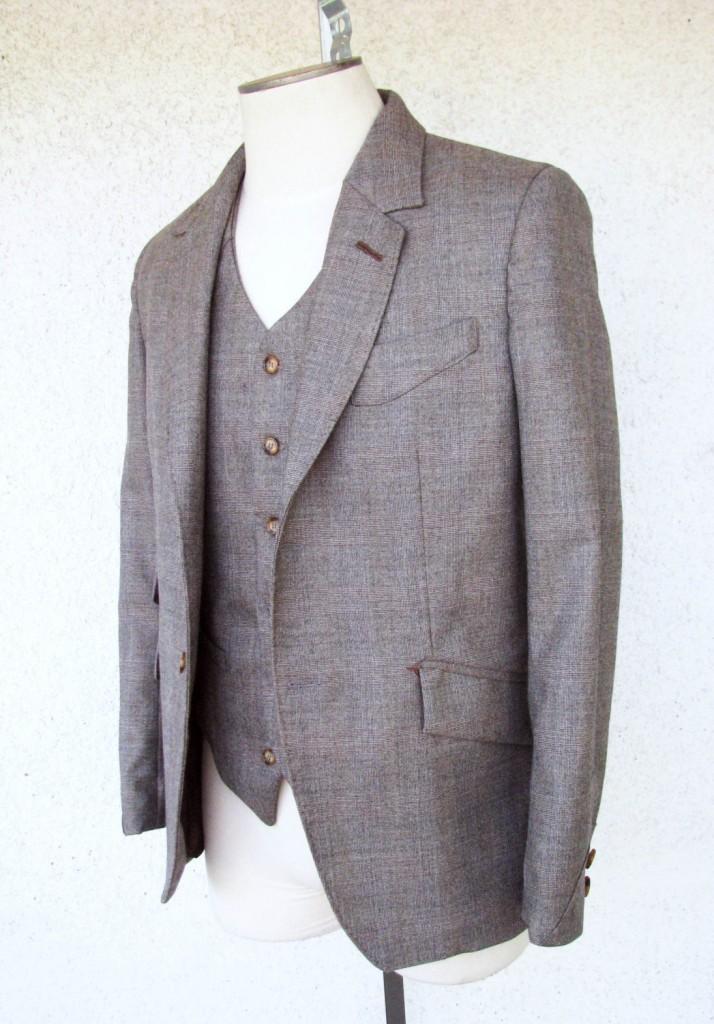 Brown Glen Plaid 3pc Suit