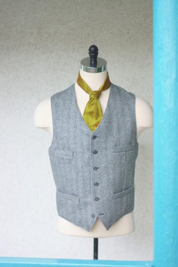 1920s Style Herringbone Vest
