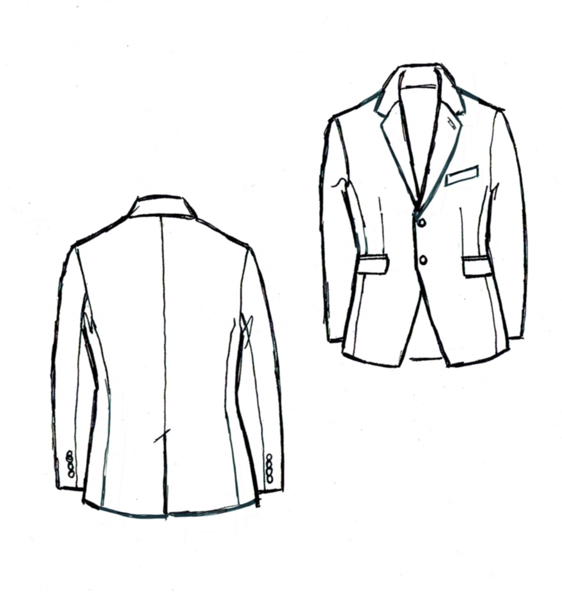 Line Drawing Jacket : The details are in your pocket denver bespoke custom