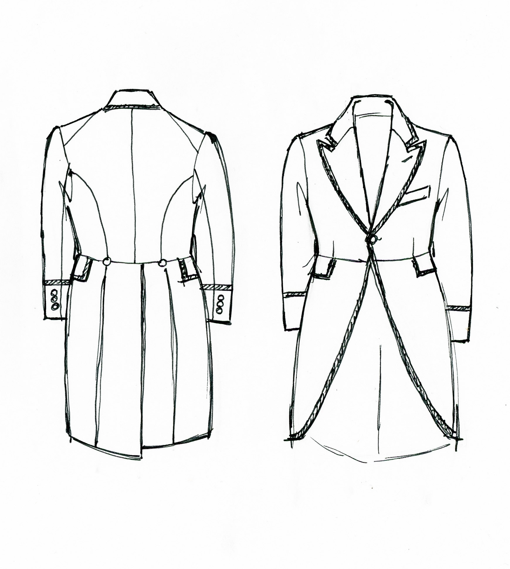 Mobile/suit Jacket Pattern Sketch Coloring Page