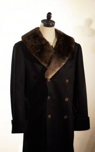 Sheared Beaver Collar Greatcoat