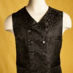 Black Dragon Brocade Vest
