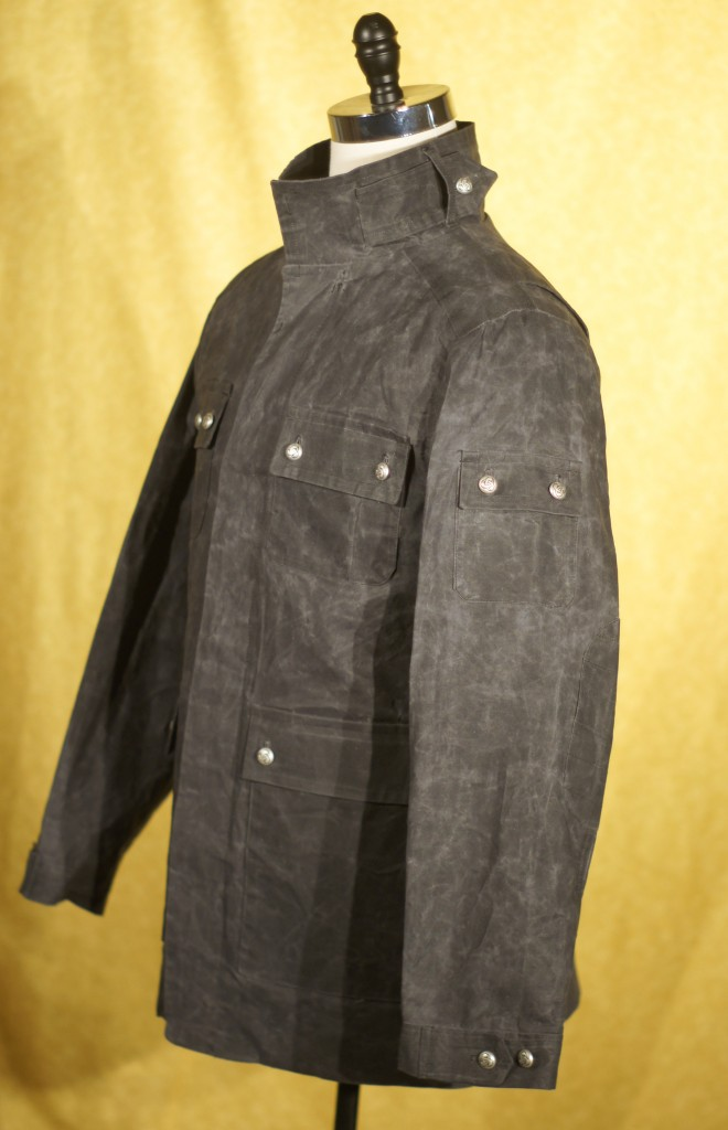 Black Waxed Cloth Jacket