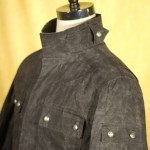 Black Waxed Cloth Field Jacket