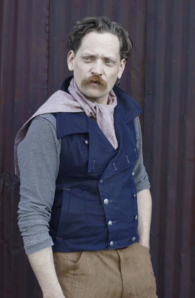 Waxed Cotton Motorcycle Vest