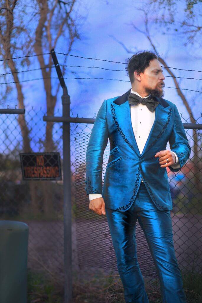 Iridescent Blue Tuxedo